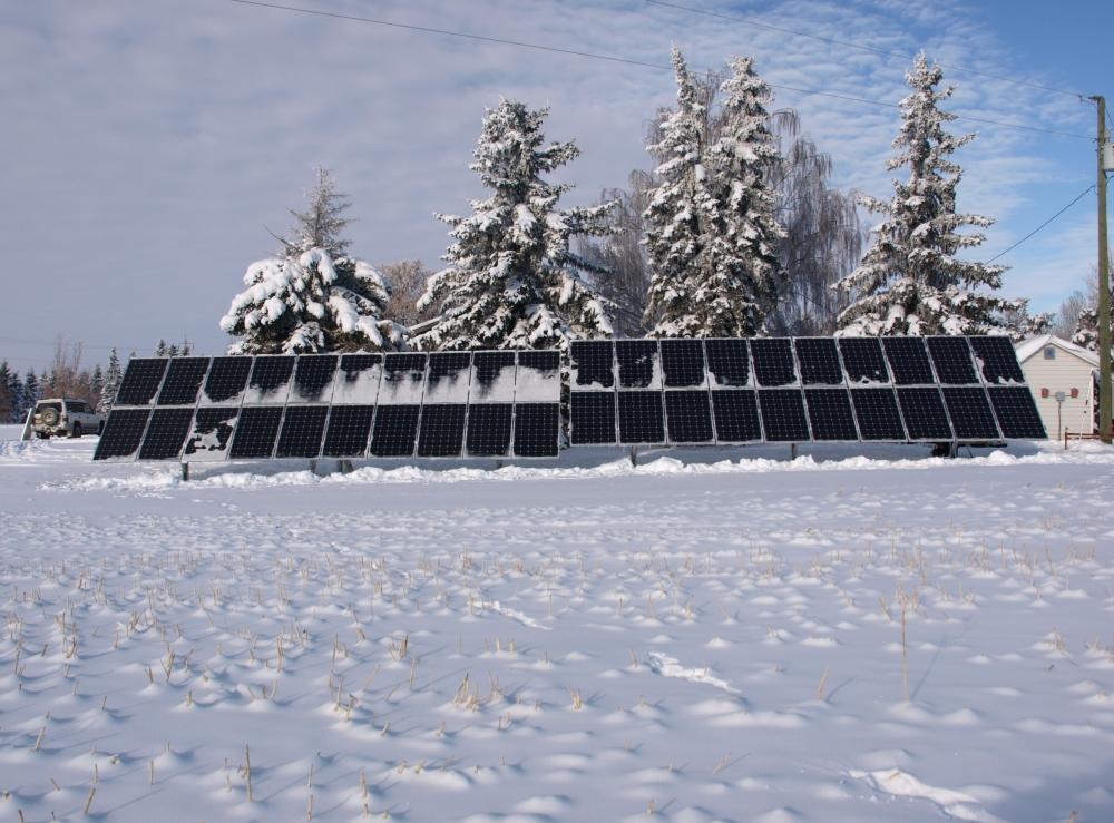 16KW Solar in Strome, Alberta
